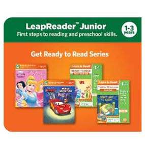 This Get Ready to Read book is one of more than 20 titles in the LeapReader Junior library that introduces toddlers to early reading skills. (Sold separately) The Get Ready to Read series is the first step in the LeapReader Reading and Writing System.  (Sold separately)