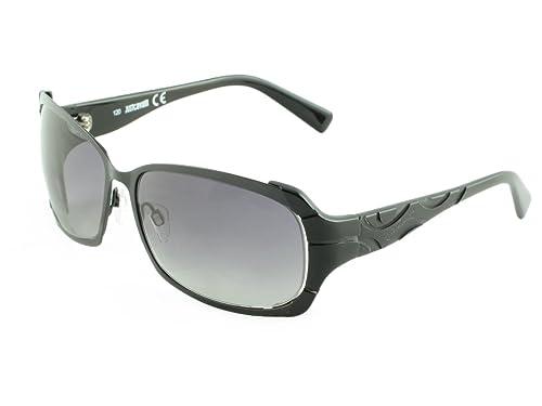 Amazon.com: justcavalli anteojos para el sol, negro, talla ...
