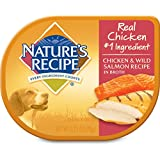Nature's Recipe Wet Dog Food Chicken & Wild Salmon Recipe In Broth (12 Pack), 2.75 oz