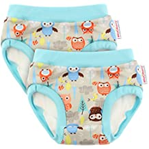 Blueberry Training Pants, Bundle of 2 (Medium, Owls)