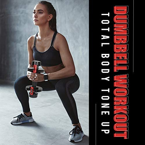 Adjustable Dumbbells, 5, 10, 15, 20, 25 lbs Dumbbell Weights Set for Men and Women, Fast Adjust Weight in 1 Second, Save Space and for Easier Transitions in Home Gym Workouts(Single) 6