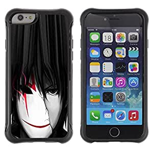 Gaga Case@ cool anime boy man mask white red Rugged Hybrid Armor Slim Protection Case Cover Shell For iPhone 6 Plus CASE Cover ,iphone 6 5.5 case,iPhone 6 Plus cover ,Cases for iPhone 6 Plus 5.5