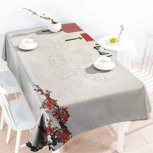 (familytaste Lantern,Wholesale tablecloths Minimalist Chinese New Year Themed Pattern Eastern Parts of The World Print 70