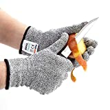 Cut Resistant Gloves for Safety. Ideal Kitchen Gloves for Cooking, Cutting or Slicing. Medium Size for Men/Women. Food Grade, Lightweight and Flexible; No-Cut Protection Level 5
