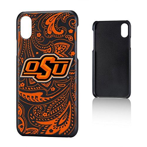 Keyscaper NCAA Oklahoma State Cowboys OSU Paisley Slim Case, iPhone X, Black
