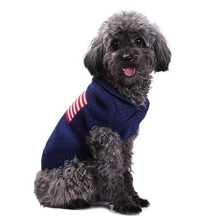 MONFS Home Link American Flag Pet Knitted Jumper otoño/Primavera ...