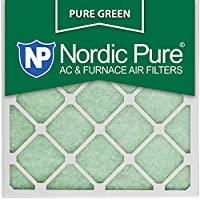 Nordic Pure 20x20x1PureGreen-3 AC Furnace Air Filters, 20 x 20 x 1, Pure Green