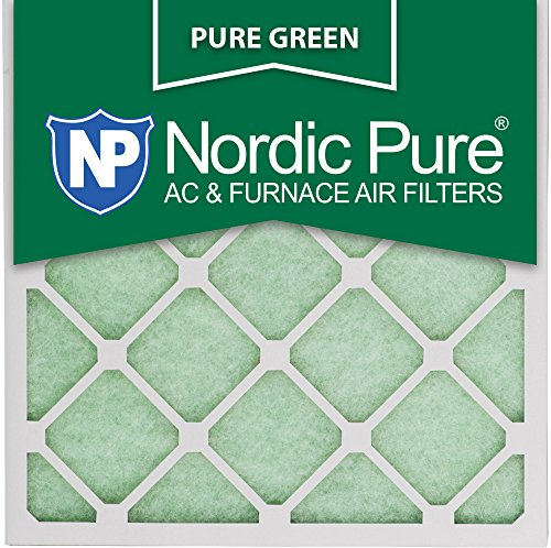 16x16x1PureGreen-12 AC Furnace Air Filters, 12-Piece by Nordic Pure