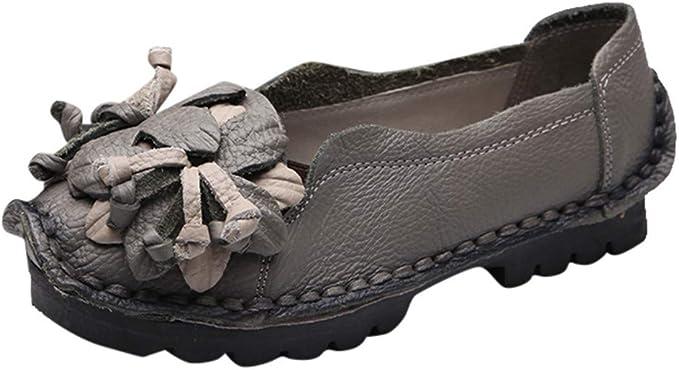 Amazon.com: Zapatos planos casuales para mujer, clásicos ...