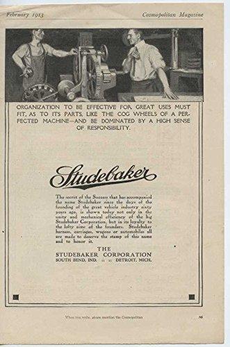 1913 Studebaker Motor Car South Bend IN Auto Ad Berkey Furniture