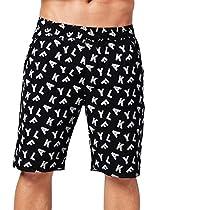 AKFLY Reflective Shorts for Walking Casual Elastic Waist Men Drawstring Shorts