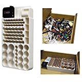 (Ship from USA) Battery Storage Organizer Rack 82 Holder Tester Case Box Organize Hold AA AAA 9V