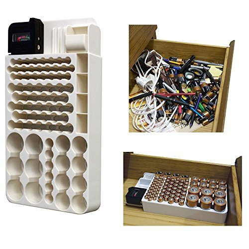 (Ship from USA) Battery Storage Organizer Rack 82 Holder ...