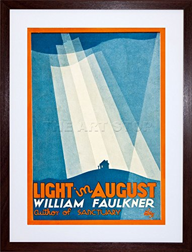 Vintage Book Cover Light In August William Art Framed Print F