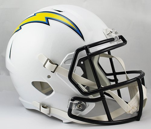 NEW LOS ANGELES CHARGERS RIDDELL FULL SIZE DELUXE SPEED REPLICA FOOTBALL HELMET