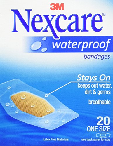 (Nexcare Waterproof Clear Bandage, One Size, 6 Count)