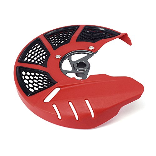 Motorcycle Red Front Brake Disc Guard Case Cover Protector For Honda CRF250L CRF250M 12-16 (Disc Guard)