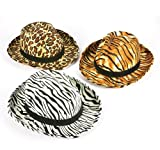 SAFARI PRINT FEDORA, Case of 48