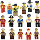 Cren® Premium Quality 20pcs Family and Community Minifigures Men People Minifigs