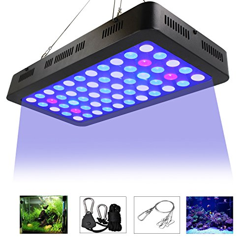 LED Aquarium Lights by ZXMEAN,165W Dimmable Full Spectrum Fish Tank Light for Coral Reef Water Plants and Fish - Lps Coral