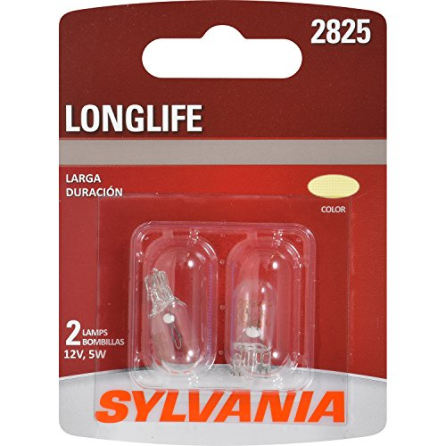 SYLVANIA - 2825 Long Life Miniature - Bulb, Ideal for Interior Lighting - Map, Dome and License Plate (Contains 1 Bulb)