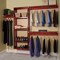 "John Louis Home 96"" Wide Closet System Finish: Red Mahogany"