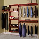 John Louis Home 96'' Wide Closet System Finish: Red Mahogany