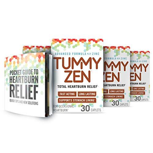TummyZen Complete Heartburn Relief Plus Guide – Acid Reducer with Zinc (120)