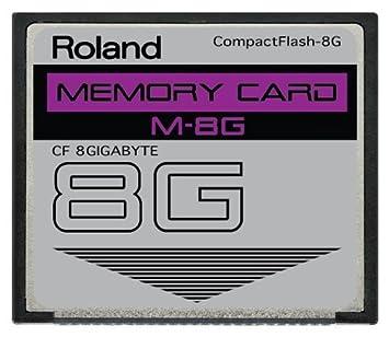 8 GB Roland m-8g CompactFlash CF Tarjeta de Memoria para v ...