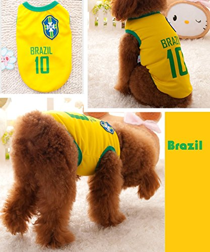 625d12da8 Dog Clothes Football T-shirt Dogs Costume National Soccer World Cup FIFA  Jersey for Pet