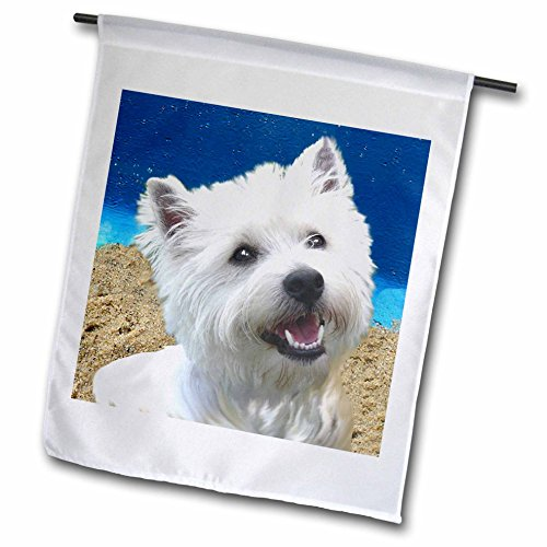 - 3dRose fl_4436_1 West Highland Terrier Garden Flag, 12 by 18-Inch