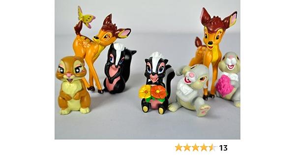 Amazon Com Disney Exclusive 7 Piece Mini Pvc Bambi Collector Set Toys Games