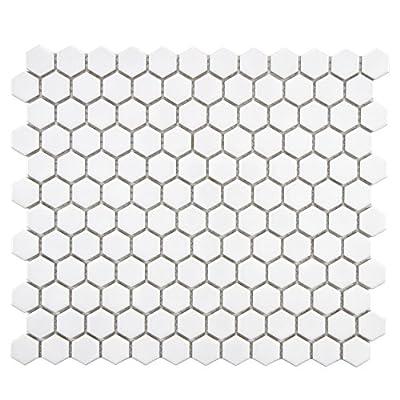 SomerTile Retro Hexagon Porcelain Floor and Wall Tile