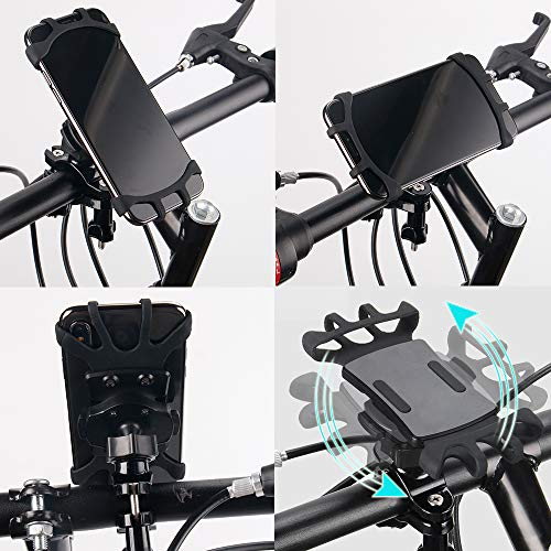 Bike Phone Mount with Quickly Take Off Interface, Leepiya Universal Bicycle Cell Phone Holder Install on Handlebar for iPhone X 8 7 6 5 Plus, Galaxy S9 S8 S7 S6 Plus and All 3.5 to 6'' Mobile Phone/GPS by leepiya (Image #6)