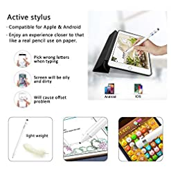 Stylus Pens for Touch Screens, 2 in 1 High Sensitive Rechargeable Active Styli Tip, 5 Mins Auto-Off Smart Digital Pencil Compatible for Apple iPad, iPhone, Android Tablet