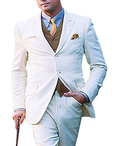 Leonardo Dicaprio Great Gatsby White 3 Piece