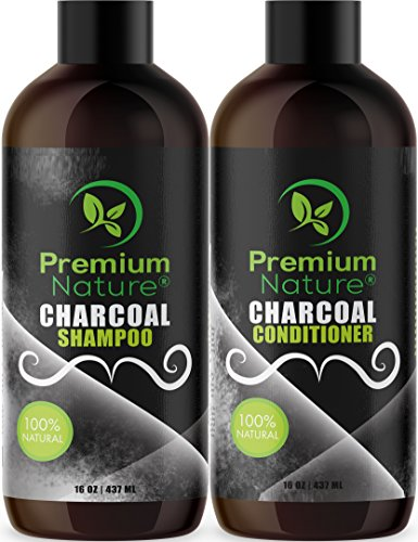 Moisturizing Oily Hair Shampoo - Charcoal Shampoo & Conditioner Sulfate Free - Natural Volumizing & Moisturizing Anti Dandruff Activated Charcoal Hair Shampoo Conditioner for Oily Dry Scalp Damaged Color Treated Hair Mens & Women Set