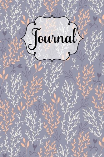 Download Abstract Leaf and Flower Pattern Orange Lined Journal: 6x9 Inches, 130 Pages, Matte Softcover Notebook, Lined Paper with Margin, ebook