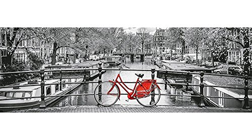 Amsterdam Bicycle Panorama Jigsaw Puzzle, 1000 Pieces, Made in Italy