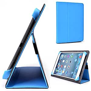 Deep Sky Blue Kroo Samsung Galaxy Tab 10.1 (P7510) Case // Slim Folio Case with Built-in Stand