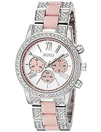 XOXO - Reloj de cuarzo para mujer, metal y aleación, color plateado (modelo: XO5919)