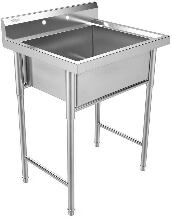 """9TRADING 30"""" New Commercial Grade Stainless Steel Utility Sink Laundry Room Tub Slop Sink"""