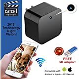 Hidden Spy Cam Wifi USB Wall Charger Camera ~ Superior Motion Activated Detection with Night Vision ~ Security Nanny Camera Supports 128GB SD Memory Card 1080P HD Res ~ Snap Smart Camera by Catch1