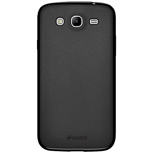 Amzer  Pudding Soft Gel TPU Skin Fit Case Cover for Samsung Galaxy Mega 5.8 I9150 - Retail Packaging - Black