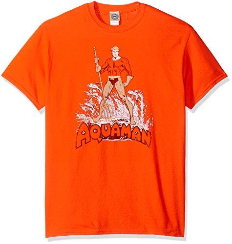 DC Comics Men's Aquaman Distressed T-Shirt