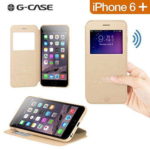 "G-CASE Folio Sense Gold pour iPhone 6+ (5.5"")"