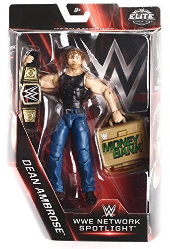 Wwe Elite Collection  Wwe Network Spotlight 6 Dean Ambrose Figure With Championship   Money In The Bank Briefcase
