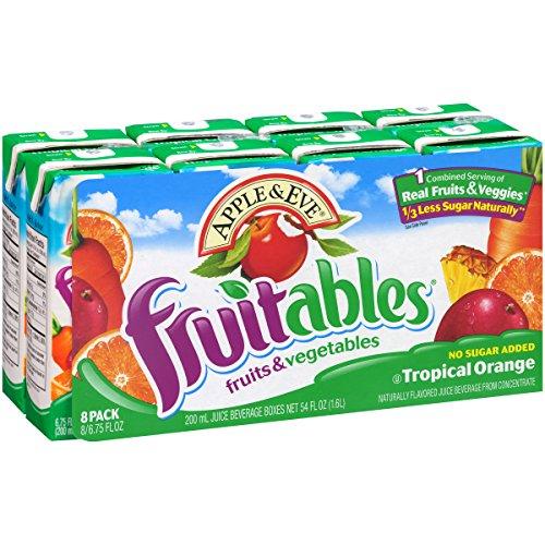 (Apple & Eve Fruitables, Tropical Orange, 6.75 Fluid-oz., Pack of 8)
