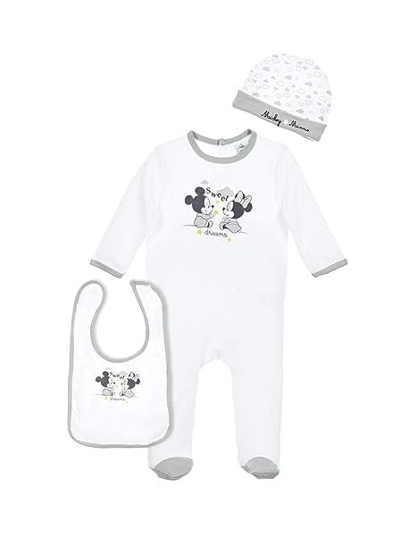 Minnie - Pelele para dormir - para bebé niña blanco blanco/gris: Amazon.es: Ropa y accesorios