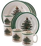 Spode 圣诞树 Christmas Tree 12-Piece Dinnerware Set with Mugs 4301875
